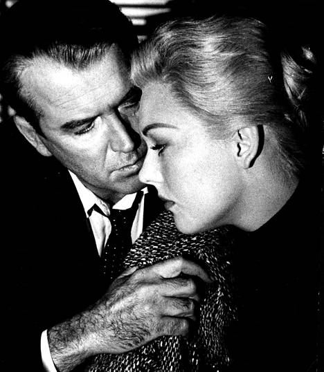 Kim Novak Vertigossa James Stewartin kanssa vuonna 1958.