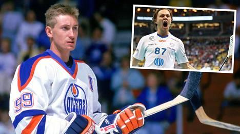 Miko Kailiala kertoi Wayne Gretzkyn (vas.) suhteesta salibandyyn.
