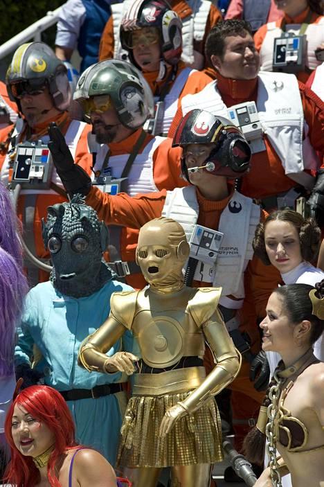 Star Wars -elokuvien hahmot olivat erityisen suosittuja Comic Conissa.