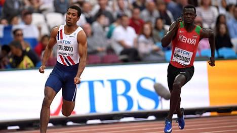 Kenian Mark Otieno (oik.) ei päässyt viivalle Tokion olympialaisissa.