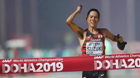 Yusuke Suzuki tuuletti maailmanmestaruutta.