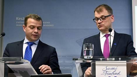 Petteri Orpo ja Juha Sipilä kommentoivat yritystukia.