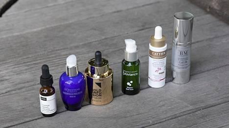 Seerumia käytetään iholle ennen kasvovoidetta.