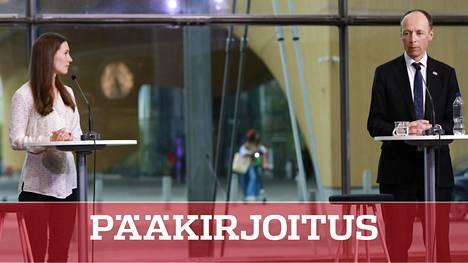 Pääministeri, Sdp:n puheenjohtaja Sanna Marin ja perussuomalaisten puheenjohtaja Jussi Halla-aho ottivat yhteen IS:n Vaalimessuilla tiistaina.