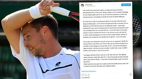 Robin Söderling toivoo, että urheilijoiden mielenterveysongelmiin puututtaisiin entistä tomerammin.