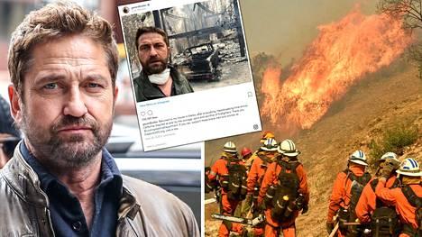 Näyttelijä Gerard Butlerin talo tuhoutui maan tasalle.