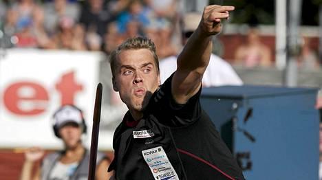 Ari Mannio heitti Urjalassa kautensa neljänneksi parhaan tuloksen.