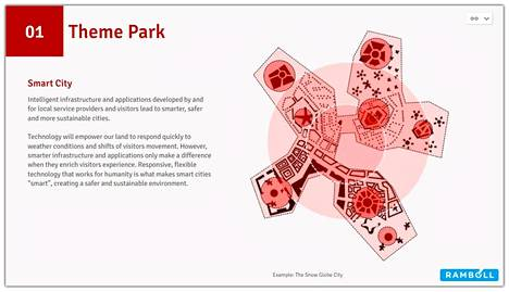 Karttakuva teemapuistoalueesta.