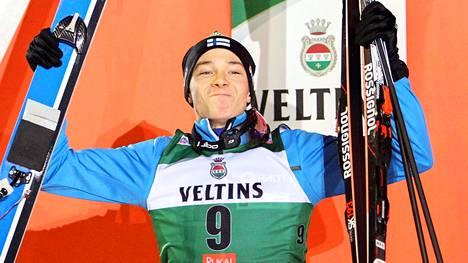 Eero Hirvonen nousi palkintokorokkeelle Rukalla.