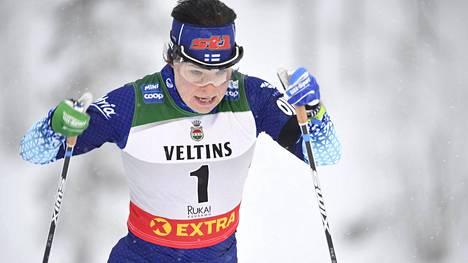 Krista Pärmäkoski sivakoi toiseksi Rukalla.