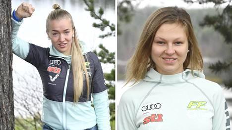 Anita Korvan (vas.) ja Eveliina Piipon valmistautuminen kauteen ei ole sujunut ongelmitta.