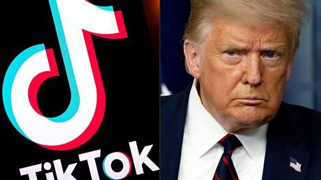 Presidentti Donald Trump vastustaa Tiktokin Yhdysvaltojen toimintojen myymistä kiinalaisyhtiölle.