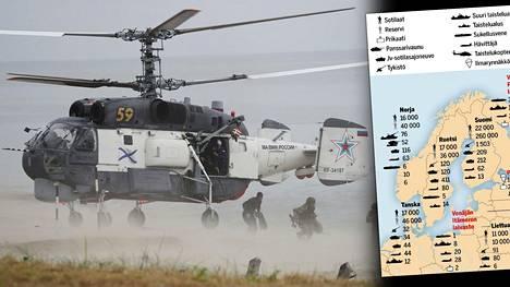 Kuva vasemmalla: Venäjän merijalkaväen joukkoja kuvattuna Kaliningradin alueella elokuussa 2020.