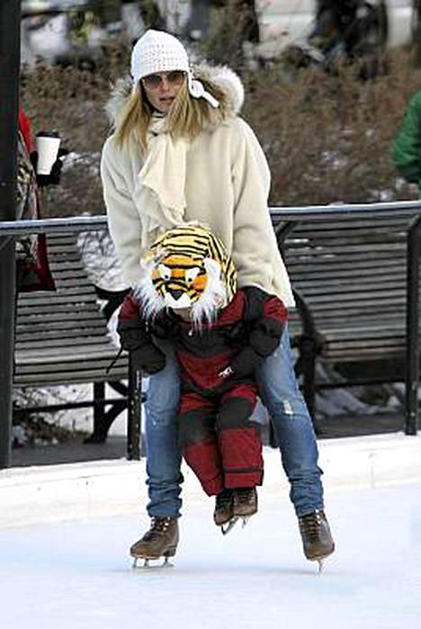Heidi Klum ja John.