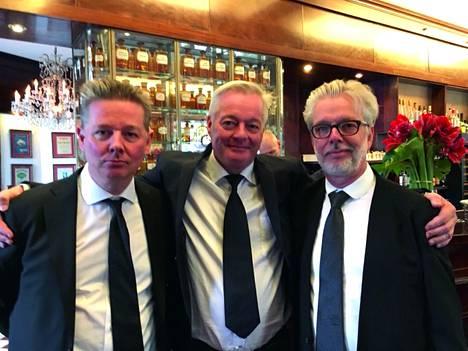 Veljekset Tuomas, Petri ja Jukka-Pekka Saraste 2016.