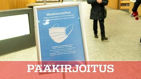 Maskusuositus Turun kirjastossa marraskuussa.