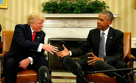 Donald Trump ja Barack Obama tapasivat Valkoisessa talossa pian Trumpin vaalivoiton jälkeen marraskuussa 2016. Tämän jälkeen miehet eivät ole keskinäisiä keskusteluja käyneet.