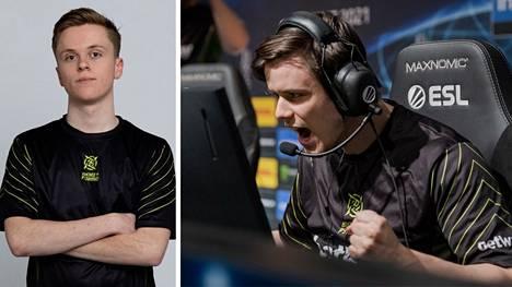 """Erik """"ztr"""" Gustafsson (vasemmalla) pääsi pelaamaan hetkeksi Ninjas in Pyjamasin pääjoukkueeseen, johon kuuluu muun muassa Fredrik """"REZ"""" Sterner."""