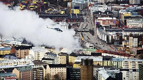 Kaupunkien ilmanlaatu on parantunut Suomessa. Kuvituskuva.