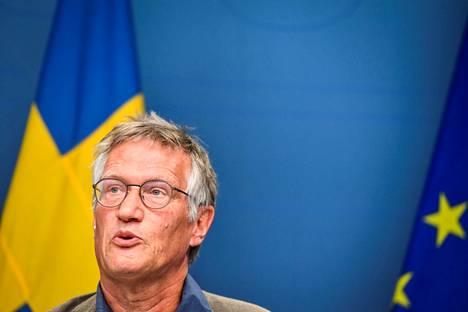 Valtionepidemiologi Anders Tegnell johtaa Ruotsin koronatoimia.