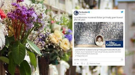Lucia Mantione sai vihdoin kirkossa hautajaiset.