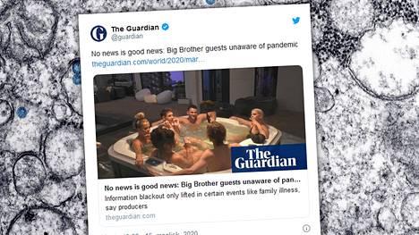 Saksan Big Brother -asukkaille ei aiottu kertoa mitään koronaepidemiasta. Tuontanto joutui kuitenkin pyörtämään päätöksensä tv-katsojilta tulleen kritiikin takia.