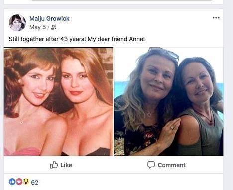 Maiju Leskinen ja Anne Pohtamo ovat olleet sydänystäviä jo 43 vuotta.