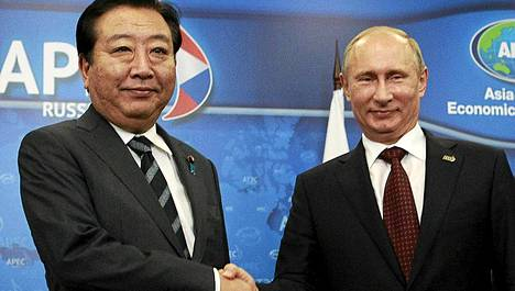 Putin tapsi pääministeri Yoshihiko Nodan viimeksi syyskuun alussa.
