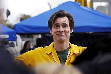 Carrey poseerasi valokuvaajille ennen stunttiaan.