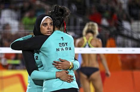 Doaa Elgobashy ja Nada Meawad antoivat hyvän vastuksen saksalaisparille.