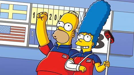 Homer ja Marge hurahtavat curlingiin.