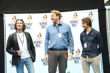 Tomi Metsäketo on Sami, Arne Nylander Bill ja Vallu Lukka Harri.