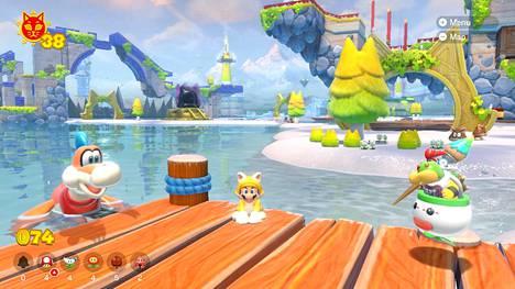 Maanmainion Bowser's Furyn haasteet ratkeavat monella tapaa, ja alueille voi uida tai ratsastaa dinolla. Bowserin pojan saa myös automaattiseksi apuun, mikä opettaa näpärästi lapsia pelaamaan.