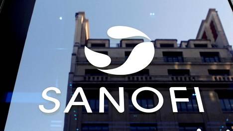 Sanofin logo Pariisissa 6. helmikuuta 2020.