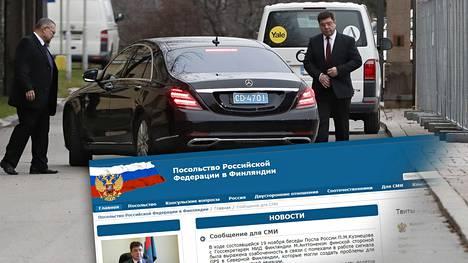 Venäjän suurlähettiläs menossa ulkoministeriöön tänään. Suurlähetystö on julkaissut asiasta kommentin nettisivuillaan.