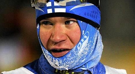 Janne Ryynäsen hyvä hyppykunto ei tarttunut latuosuudelle.