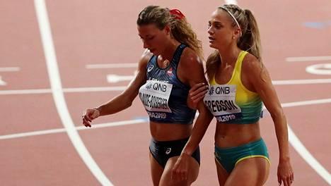 Ophelie Claude-Boxberger jäi eränsä viimeiseksi Dohan MM-kisoissa.