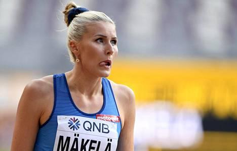 Kristiina Mäkelä ponnisti tarmokkaasti MM-finaaliin.