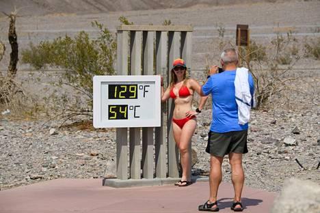 Yhdysvalloissa on mitattu kovia hellelukemia. Kuva Kuolemanlaaksosta, Kaliforniasta.