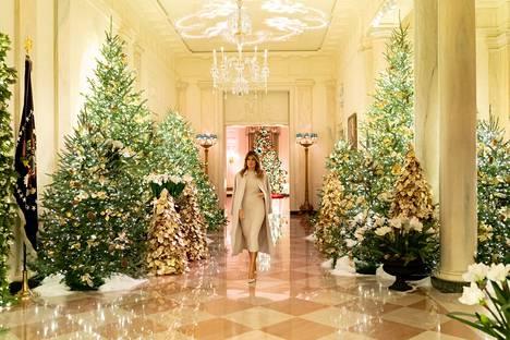 Melania Trump koristeli Valkoisen talon tänä vuonna hyvin perinteisesti.