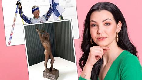 """Mika Myllylän tytär Olivia, 19, näki kuvan isästään tehdystä patsaasta ja pettyi: """"Se on suoraan sanottuna ruma"""""""