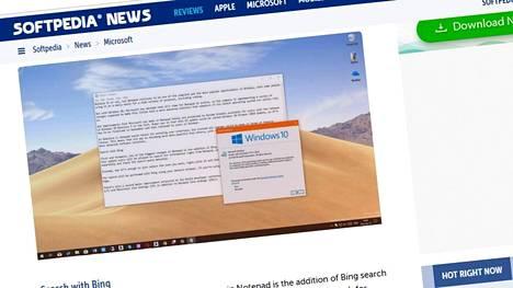 Windowsin Muistio eli Notepad saa kasvojenkohotuksen seuraavassa isossa päivityksessä.