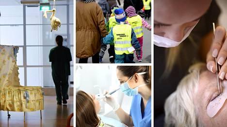 Naisvaltaisimpien ammattien joukkoon kuuluvat esimerkiksi kätilöt, kosmetologit, lastentarhanopettajat ja suuhygienistit.