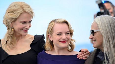 Nicole Kidman, Elisabeth Moss ja Jane Campion Cannesissa.
