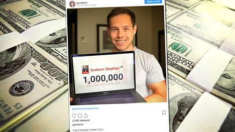 Youtube-tähti ja miljonääri Graham Stephan säästää 99 prosenttia kuukausituloistaan.
