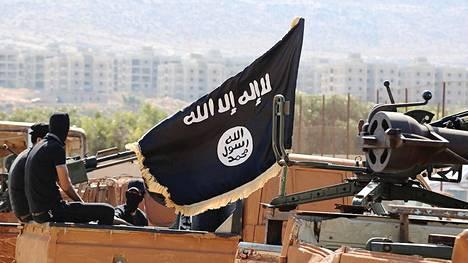 """Isis-järjestön """"kalifaatti"""" toimi laajimmillaan suurella alueella Syyriassa ja Irakissa. Isisin propagandakuva marraskuulta 2015."""