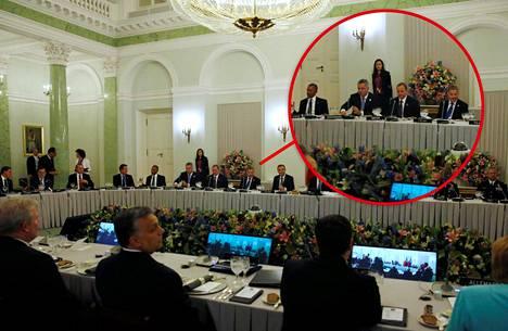 Barack Obama ja Sauli Niinistö istuivat illallisella muutaman metrin päästä toisistaan.