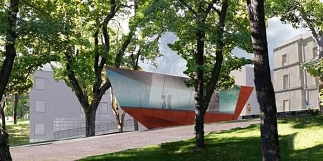 Arkkitehtitoimisto Vapaavuoren havainnekuva funikulaarista.