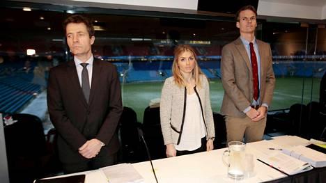 Therese Johaug oli tammikuussa Norjan urheilun keskusjärjestön kuultavana Oslossa.