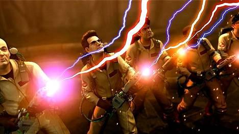 Kummitusten pyydystäminen seuraa vahvasti elokuvia Ghostbusters-pelissä.